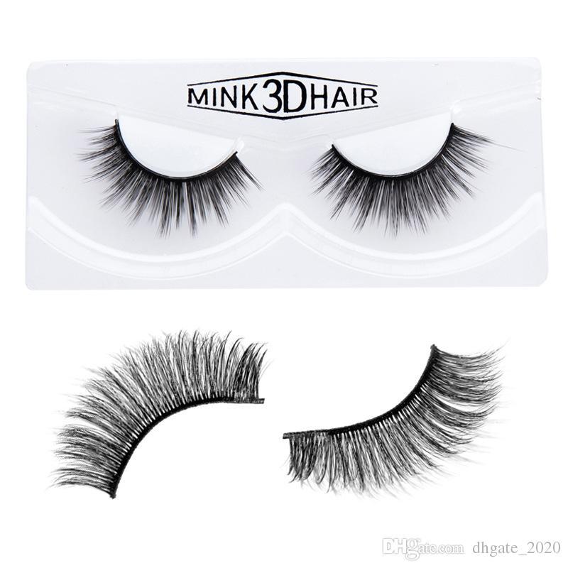 Dropshipping Yeni makyaj HANDAIYAN 3D Vizon Saç Yanlış kirpik 6 Stilleri El Yapımı Güzellik Kalın Uzun Yumuşak Vizon Kirpikler Kirpik