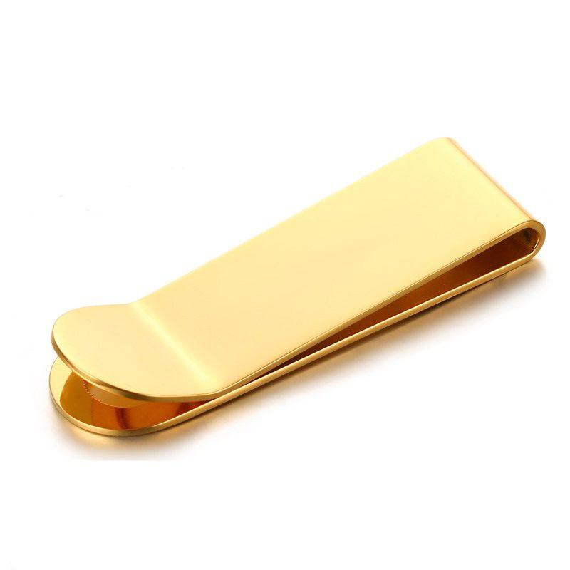 39e7cdc2 Gold Metal Clip Money Cash Simple Holder Titanium Stainless Steel Designer  Metal Money Holder Wallet For Women Men Gift
