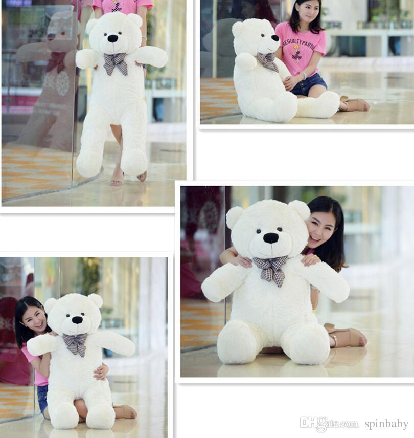 New TEDDY BEAR STUFFED LIGHT BROWN GIANT JUMBO 60cm 80cm 100cm 120cm birthday gift Christmas gift