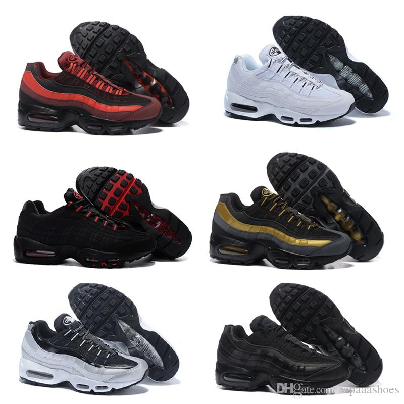 finest selection 2eee0 39daf Acheter Nike Air Max Airmax 95 VII Pure Money UNCDrop Shipping En Gros Top  Quarity Chaussures De Course Hommes Coussin 95 Sneakers Bottes Authentique  A03 ...