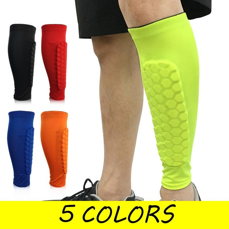 2019 Football New Shin Guards Protective Soccer Pads Holders Leg Sleeves  Basketball Training Sports Protector Gear Adult Teenager From Beachsandy 78f7d8ad76d5