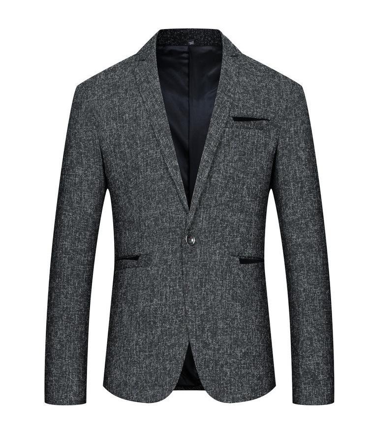 Compre Blazer De Tweed Hombres Chaqueta De Traje Slim Fit Casual Abrigo De  Negocios Blazer Clásico De Negocios Traje De Boda Un Botón De Talla Grande  A ... 6d8fa325610