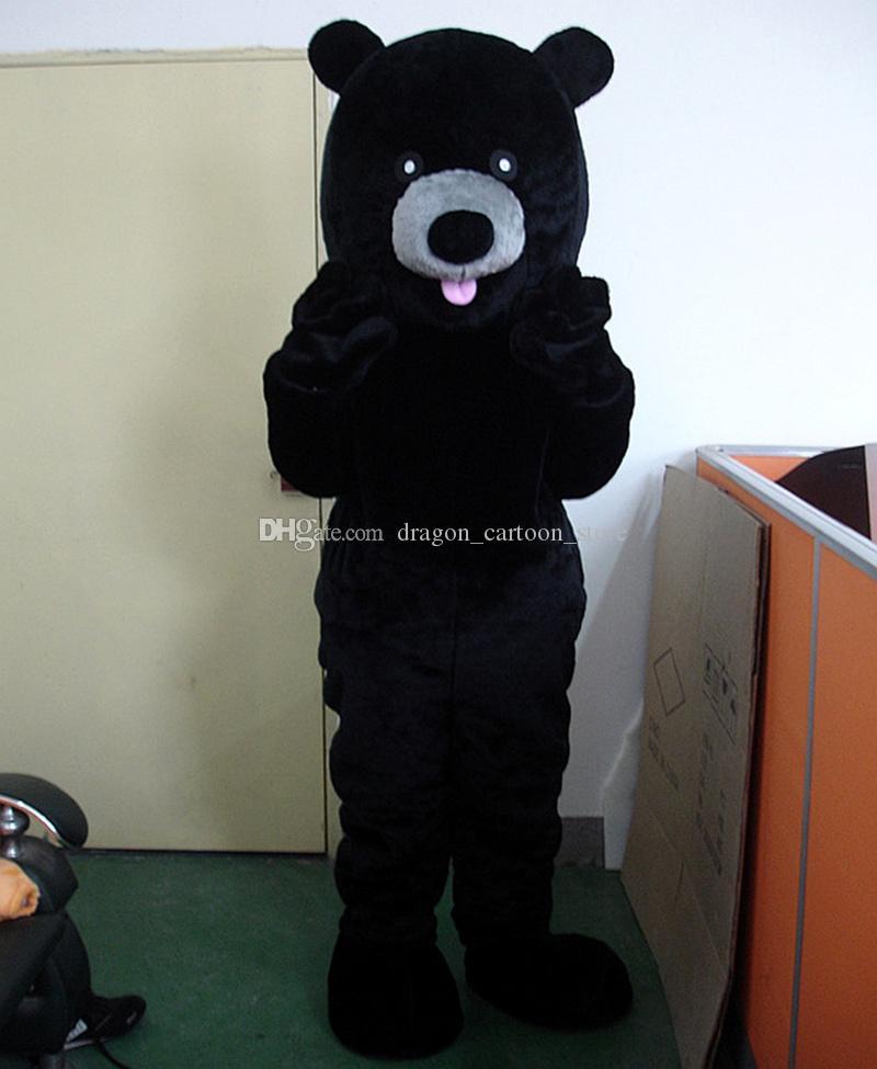 black bear Mascot Costumes Personaggio dei cartoni animati adulti Sz Immagine reale 100% 089