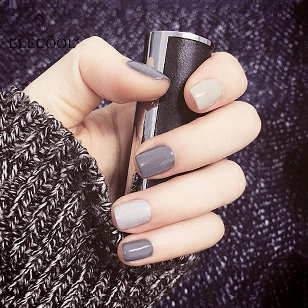 Grosshandel Elecool Falsche Nagel Short Nail Art 5 Arten Acryl Nette
