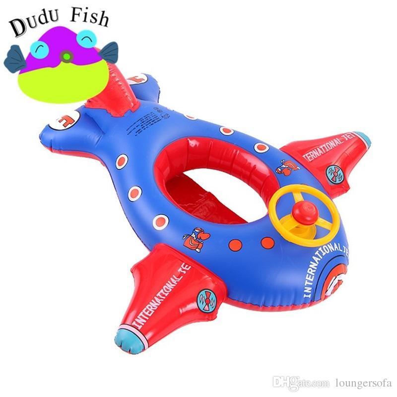 2018 bambini alla moda nave gonfiabili tubi morbido sedile gonfiabile grandi aeromobili bambini anello di nuoto conveniente trasportare 18 5 md x
