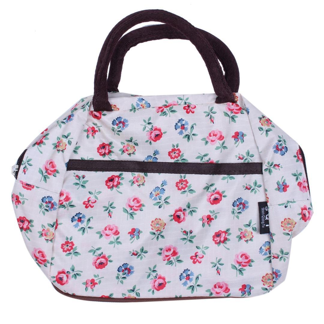 b58796aa43 DCOS Fashion Zipper Lunch Bag Picnic Box For Women Tote Handbag Small  Floral Pattern Pink Handbags Travel Purse From Yera, $22.54| DHgate.Com
