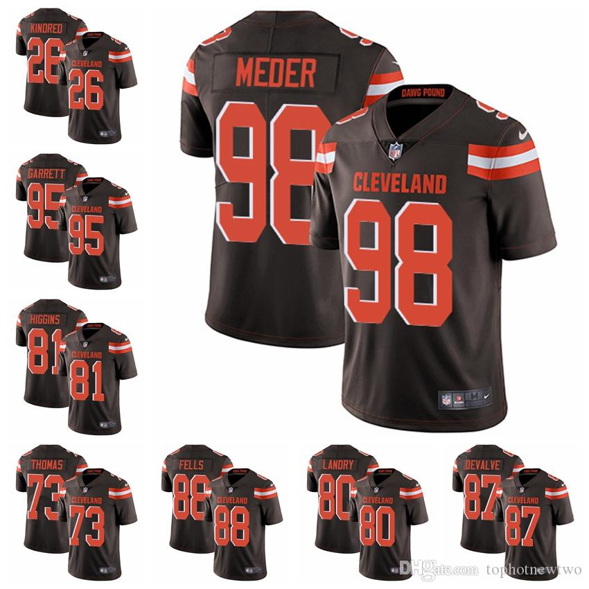 2018 Cleveland Limited Home Football Jersey Browns Brown Vapor Untouchable  6 Baker Mayfield 21 Denzel Ward 95 Myles Garrett From Tophotnewtwo 9a9f70fd0