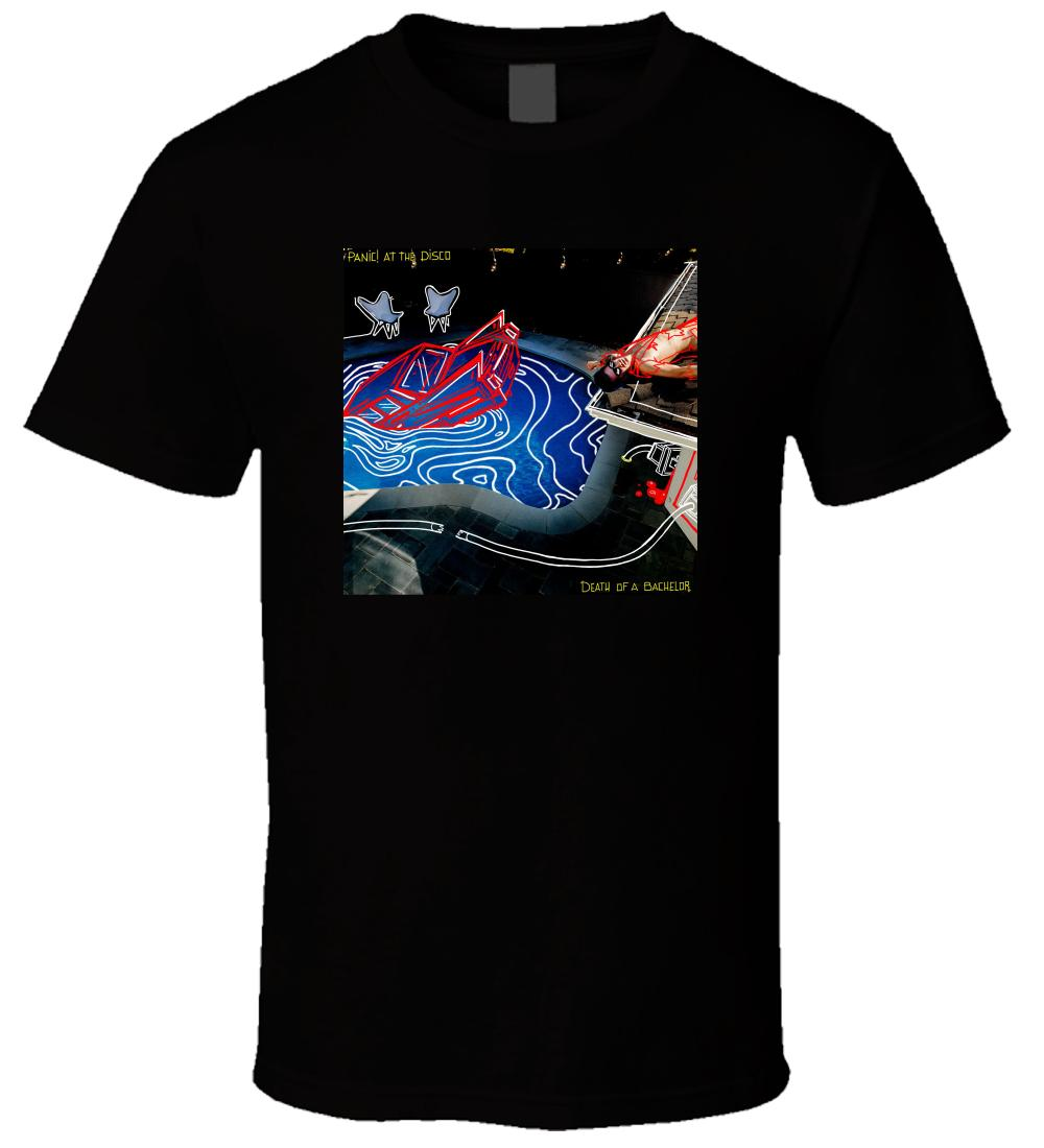 Panic At The Disco Death Of A Bachelor 3 Men T Shirt 2018 Male Short