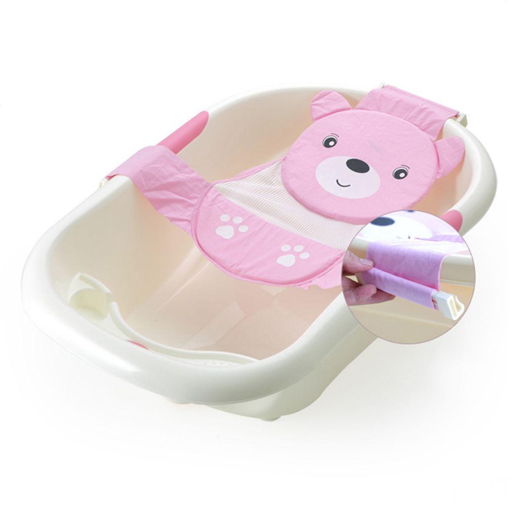 Adjustable Baby Bathtub Cartoon Pattern Bath Seat Newborn Safety ...