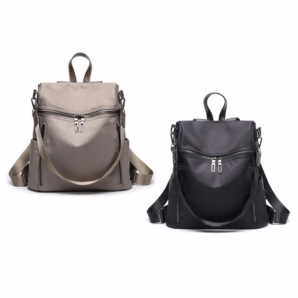 4052b6912c50 Fashion Women Nylon Small Backpacks New Purse Lightweight Schoolbag  Shoulder Bag For Girl Travel Casual Daypack 2018 THINKTHENDO Backpack With  Wheels Dakine ...
