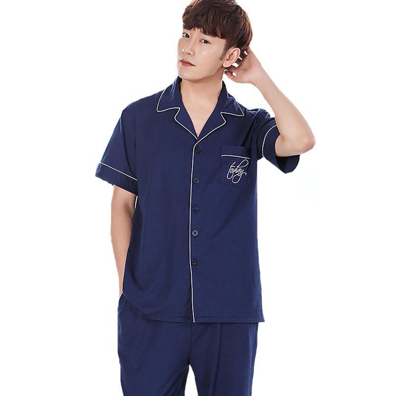 Large Size 3XL 4XL Male Cotton Home Wear 2018 Summer Sleepwear Short ... 2dd414293