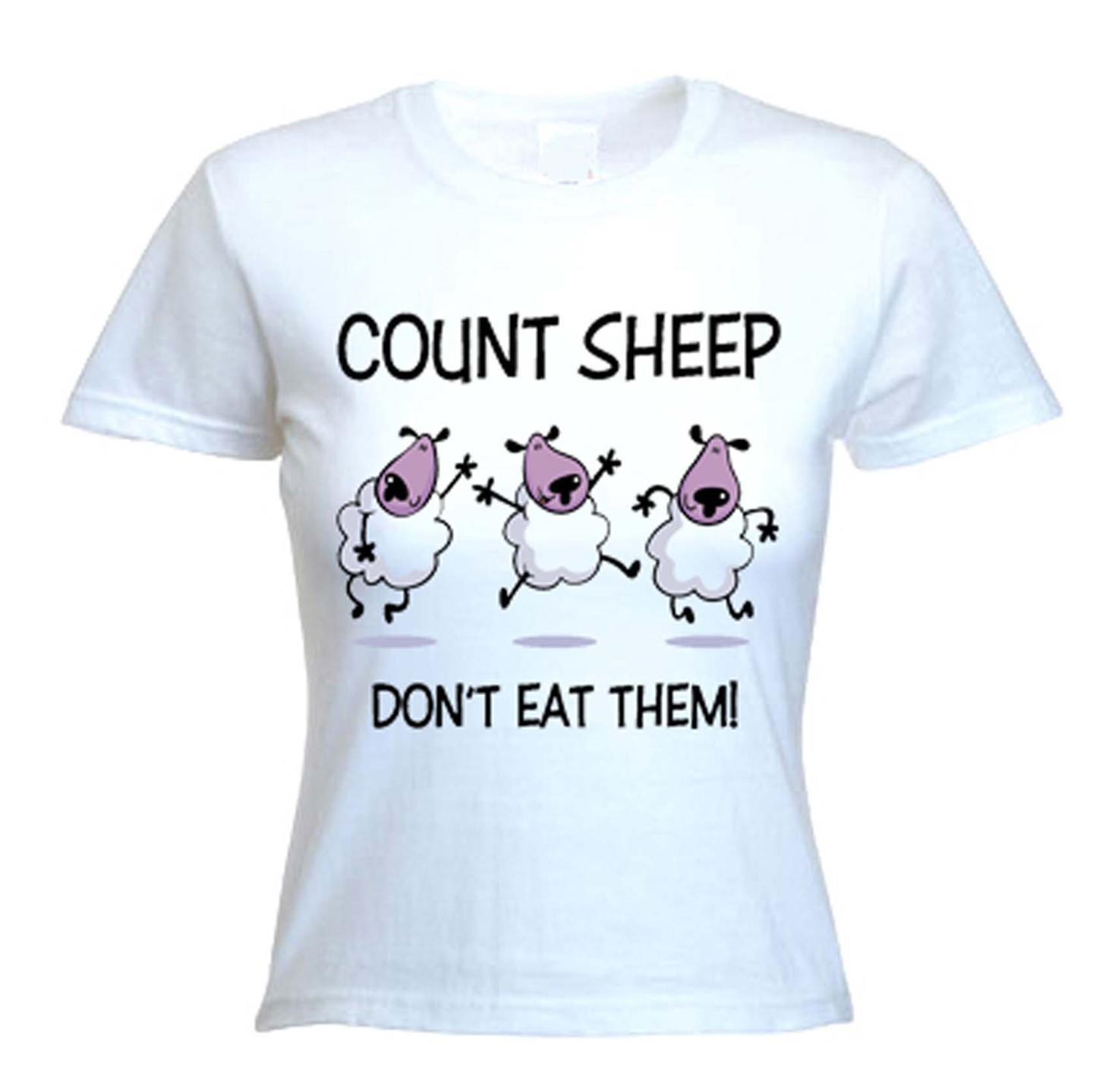 7cb64748b COUNT SHEEP, DON'T EAT THEM T-SHIRT - Vegetarian Vegan Veggie - Sizes S-XL