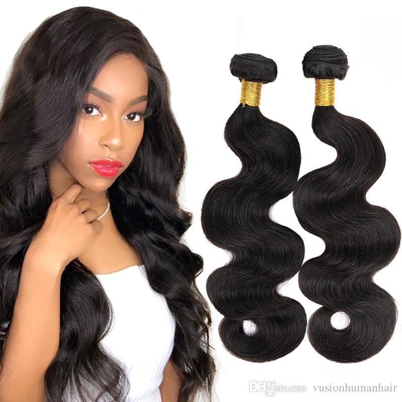 Body Wave Wet And Wavy Remy Hair 3 Bundles10 28 Inches Natural Black