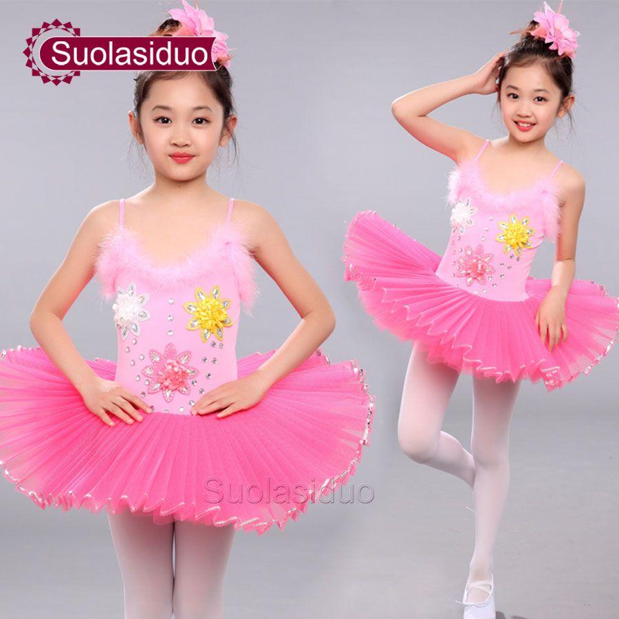 74cf64d129b2 Gilrs Professional Ballet Tutu Kids Dance Tutu Yarn Skirt Ballet ...