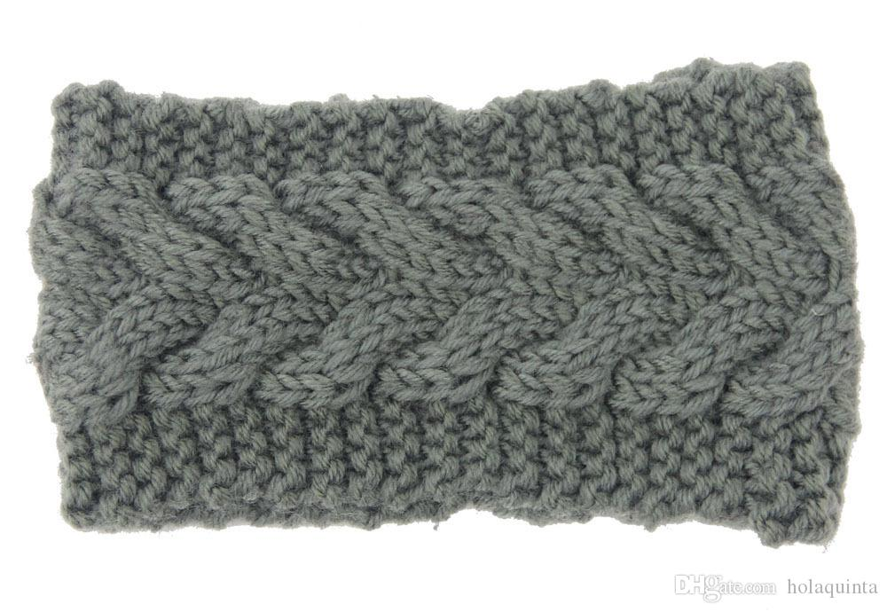 olid Large Tricot Bandeau Hiver Chaud Oreille Crochet Turban Accessoires de Cheveux Pour Les Femmes Fille Bandeau Bandeaux
