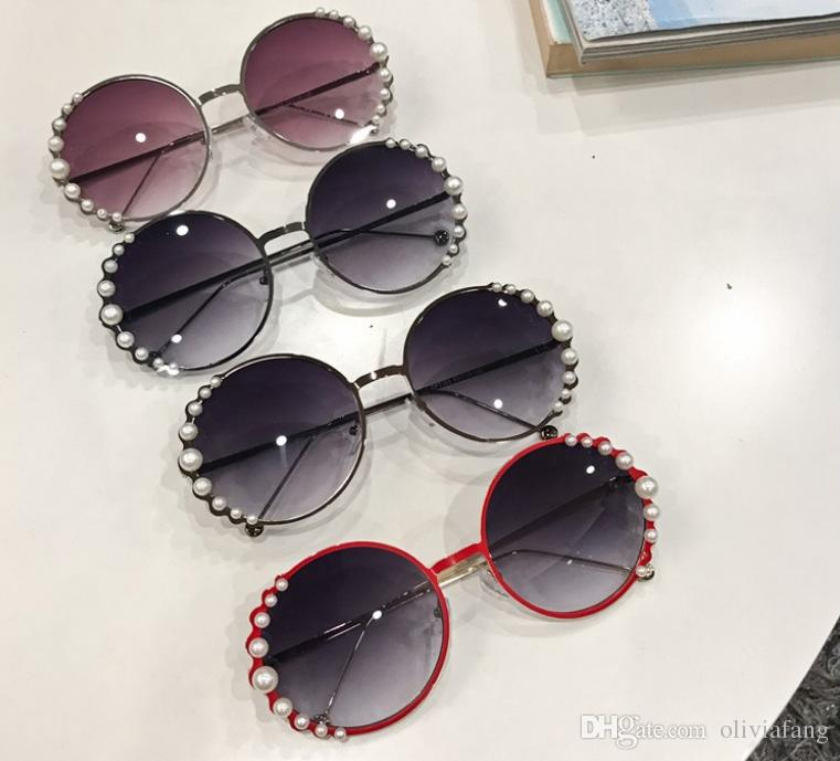 807a75ee1a 2018 Super Fashion Sunglasses For Girls With Pearl Decoration Sunglass UV  Protection Round Lens Euro Stylish Hawaii Style Fashion Eyeglasses Fastrack  ...