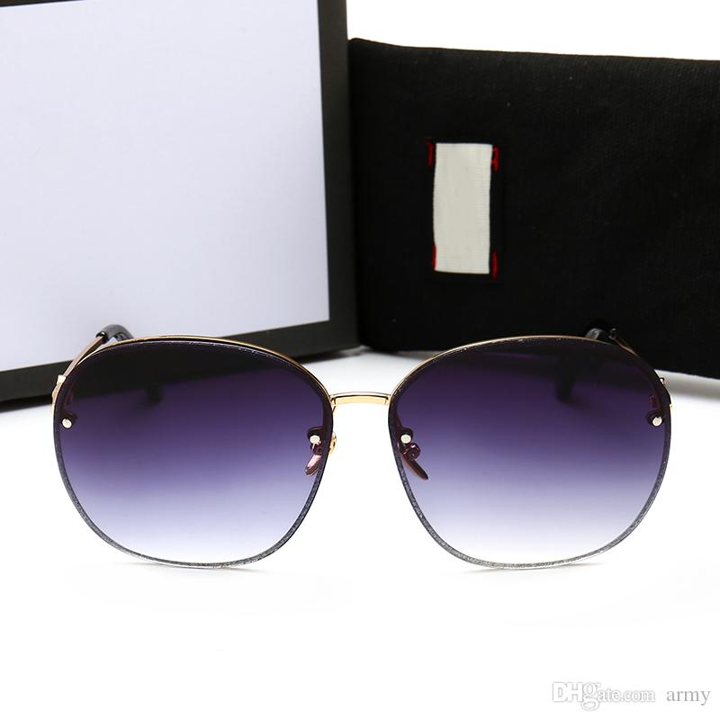 7d6acdab164 2018 New Fashion Designer 0282 Sunglasses Half-frame Square Frame ...