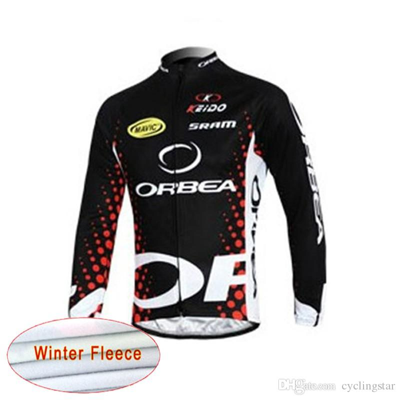 2018 Orbea Winter Thermal Fleece uomo Cycling Maglie manica lunga Ropa ciclismo Abbigliamento MTB bicicletta Rock Racing Bike Vestiti C1303