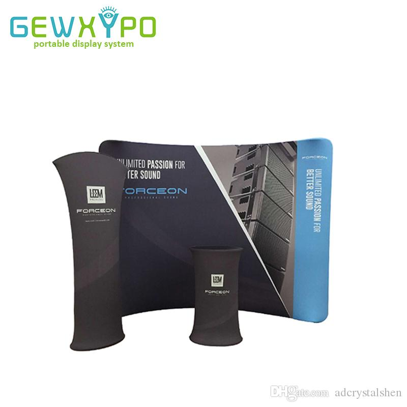 Portable Exhibition Banners : 2019 trade show booth portable 10ft*7.5ft curved tension fabric