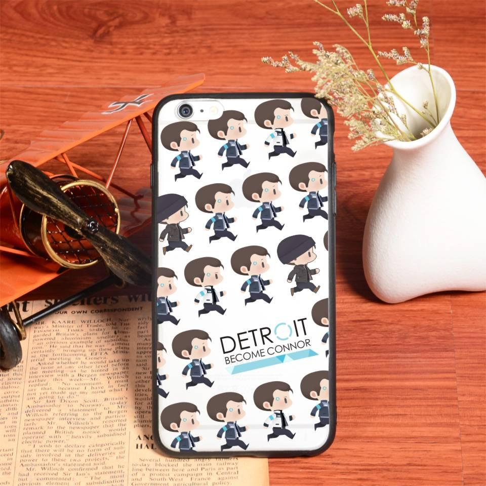 BTS Detroit: Become Human Hot Sale Connor TPU Case for Iphone 6 6s plus Silicon Case Soft Cartoon Kawaii Transparent Solid Cover