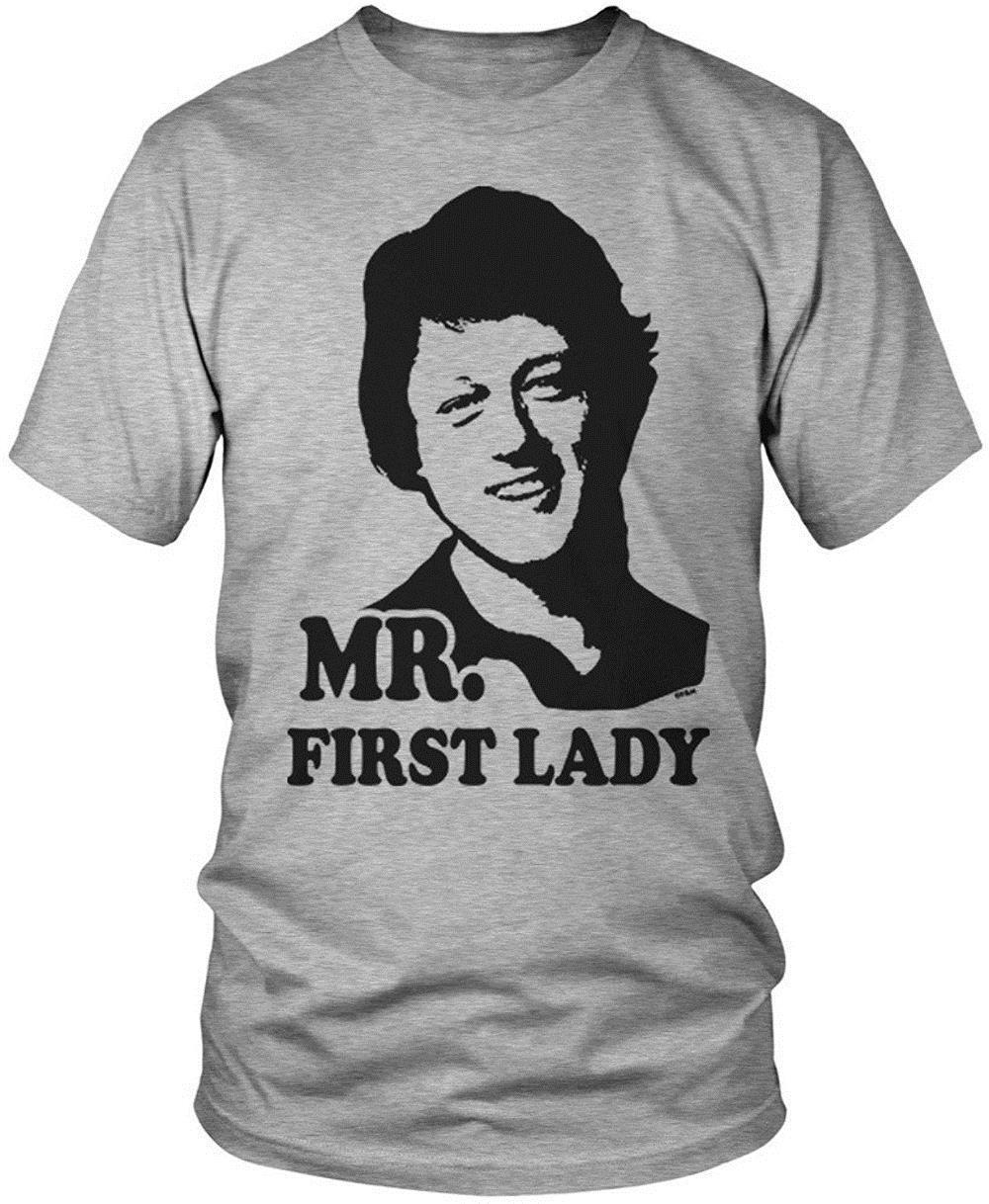 27283a451 Fashion Printed T Shirts Short Men Graphic Crew Neck Mr First Lady Bill  Clinton Men's T-Shirt T Shirts