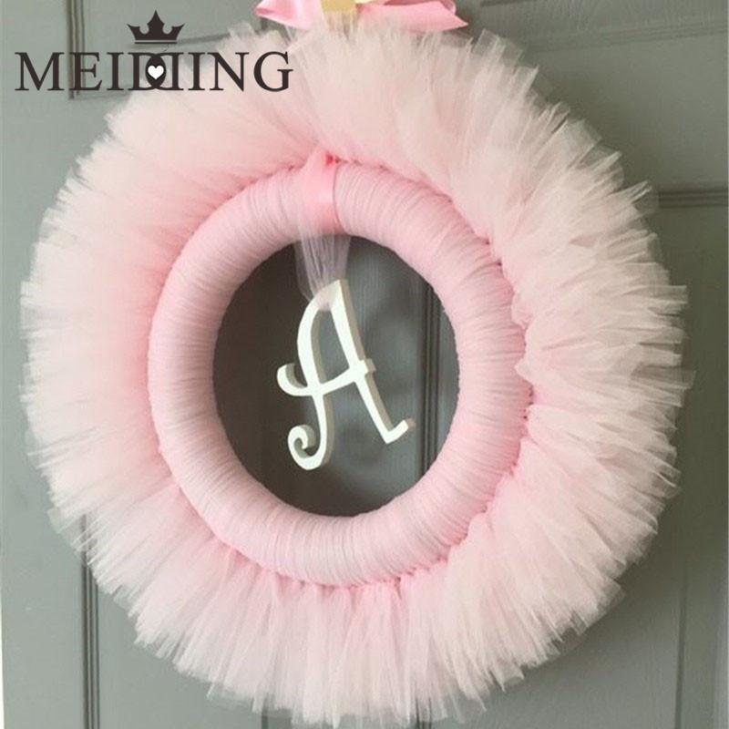 MEIDDING-tulle roll blue/pink Princess Themed Tutu Wreath Party Favors Wedding /Baby shower birthday Party Decoration