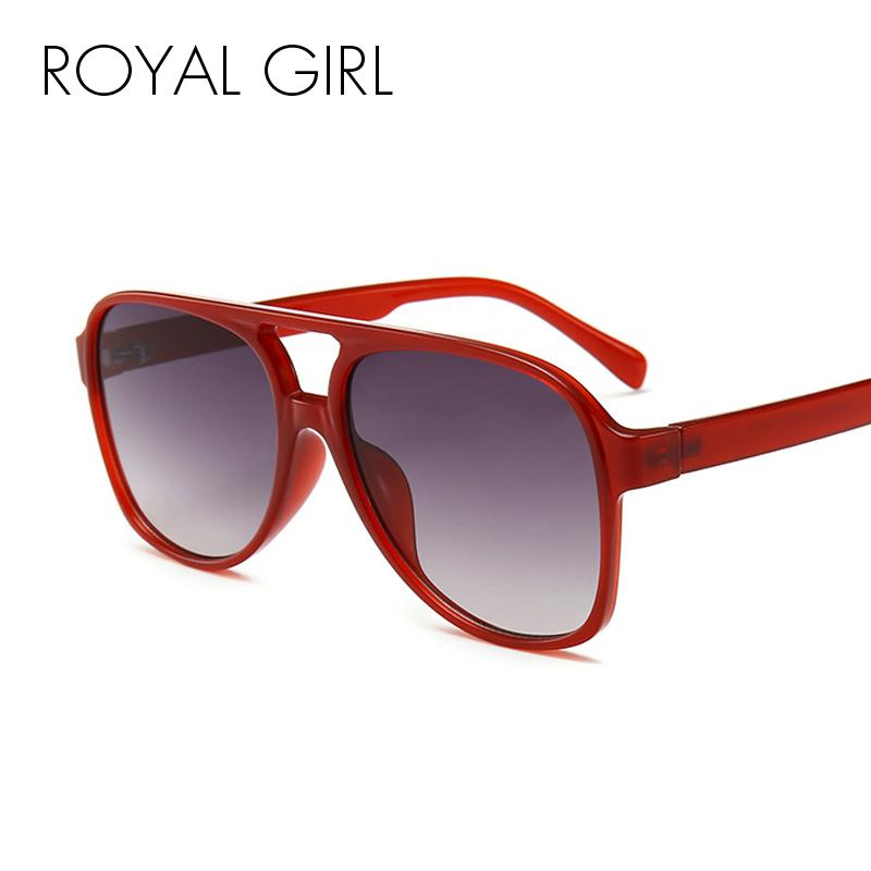 fb5ef54515 ROYAL GIRL Women S Oversize Sunglasses Men Vintage Flat Top Eyewear 2018  New Fashion Black Red Sun Glasses Female UV400 SS329 Best Sunglasses For  Men ...