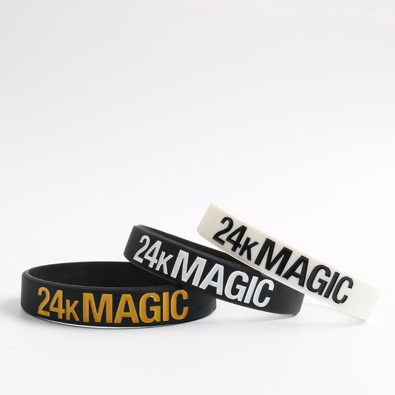 marque populaire amazon utilisation durable Haute Qualité Bruno Mars Bracelets En Silicone 24 K Magic Silicone 3  Couleurs Charme Bracelets Unisexe Femmes Hommes Bracelet Cadeau pour Les  Fans