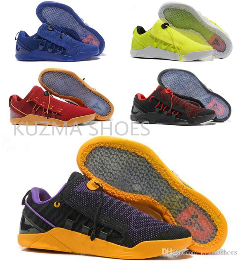 new product 8a7b1 563a7 Acheter Nouveau Chaussures De Basket Hommes KOBE A.D. NXT 12 Hommes KB Volt  Blanc Noir AD WOLF GREY Chaussures De Sport Zoom, Chaussures De Training  Pas ...