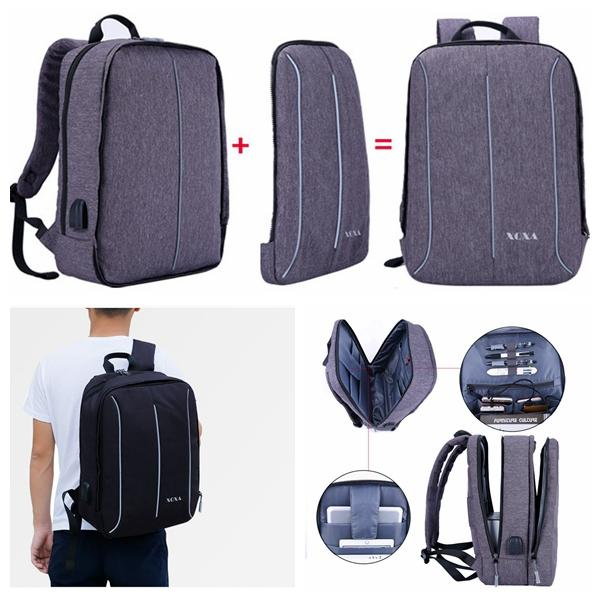 Urban Backpacks Detachable USB Charge Laptop Backpack Minimalist ... ade4a366675a4