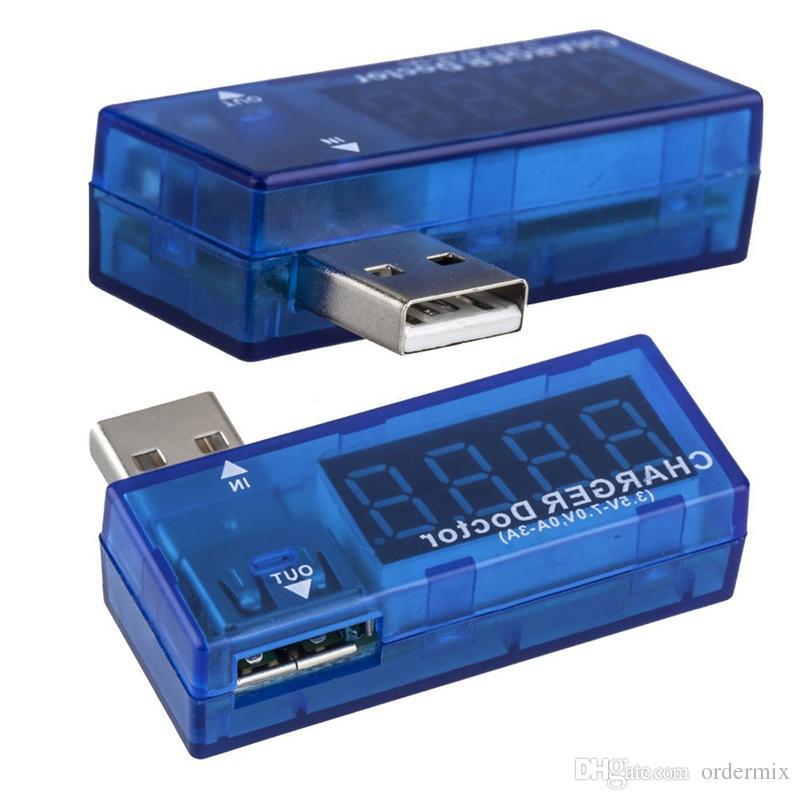 الرقمية USB السلطة شحن شحن الجهد الحالي تستر متر ميني USB شاحن طبيب الفولتميتر شاحن سيارة شاحن
