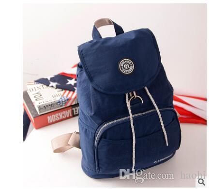 f3da43ff4607 2019 Brand Waterproof Nylon Backpack Waterproof Women Knapsack Drawstring  String Backpack Girl Student School Bag For Laptop Ease Of Leisure From  Haohi