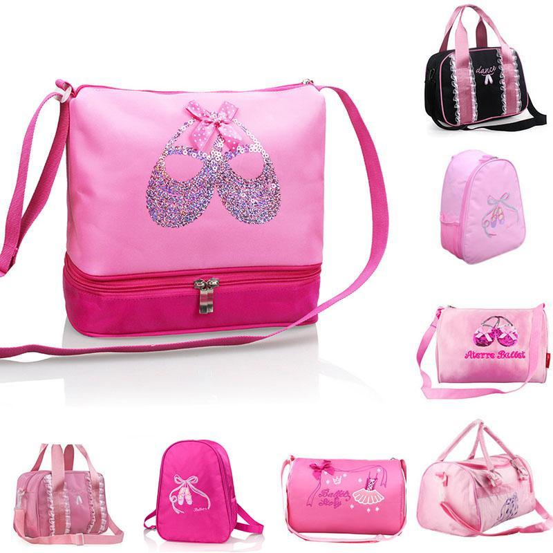 ad4b0e33a 2019 Girls Kids Balle Dance Bag Kawaii Pink Princess Cross Body Bag ...