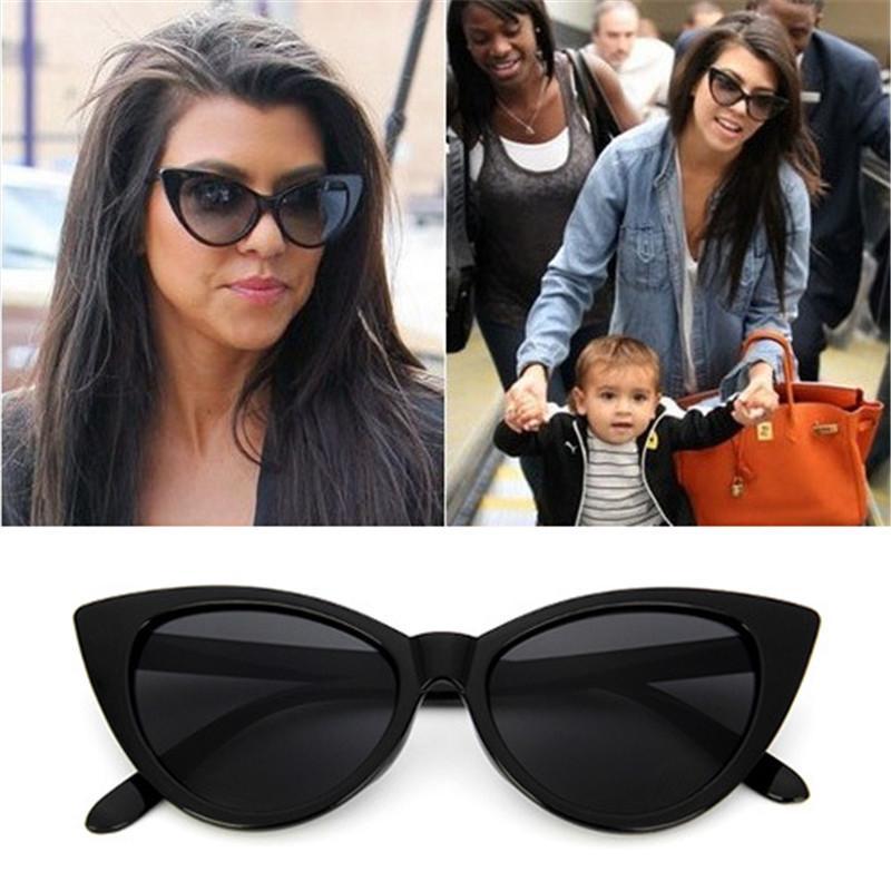 Compre Gafas De Sol De Ojo De Gato De Alta Calidad Mujeres Diseñador De  Marca Puntos De Verano Gafas De Sol Mujer Damas Espejo De Gafas De Sol De  La ... 29bc1ceaad85