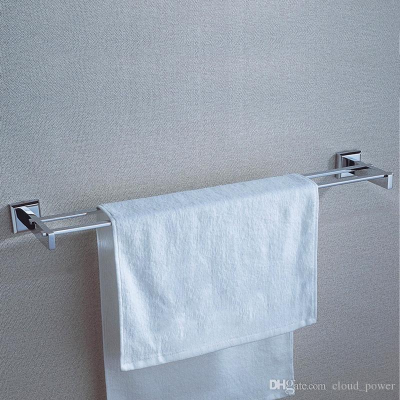 2018 Chrome Double Bathroom Towel Shelf Wall Mounted Copper Strong Towel  Bath Rails Towelbath Hanger Holder Racks 60cm From Cloud_power, $49.9 |  Dhgate.Com