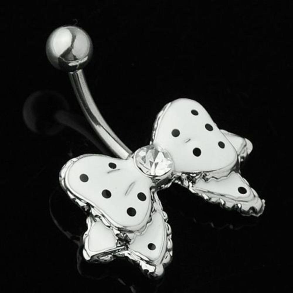 Bow Clear Surgical Belly Piercing Body Jewelry Belly Button Rings Steel Navel Piercing Navel Piercings