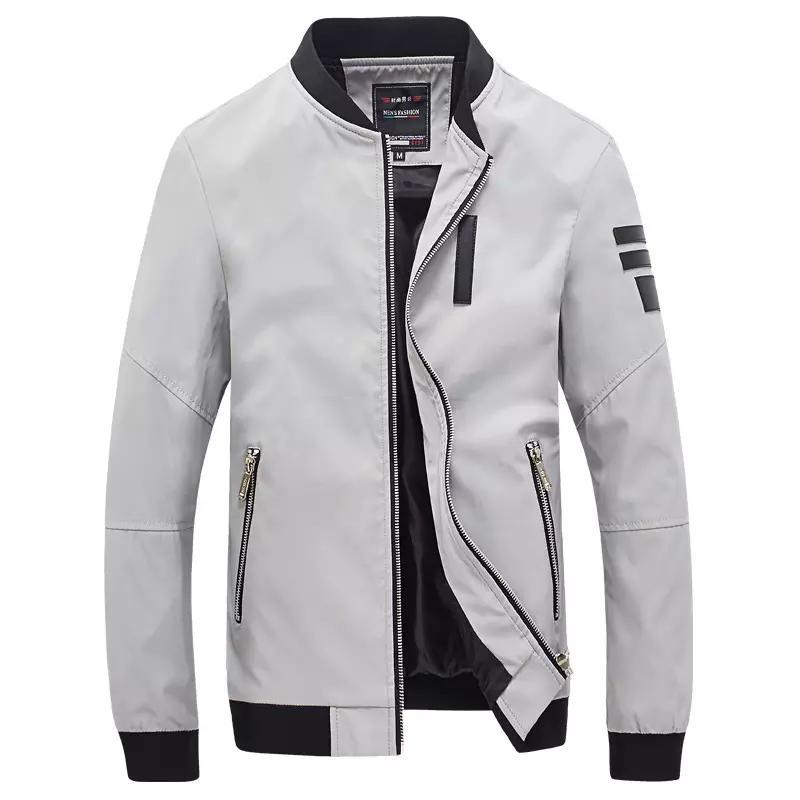 répliques le prix reste stable hot-vente dernier 2017 New Bomber Jacket Men Veste Homme Autumn Mens Fashion Pu Leather  Splice Windproof Zipper Varsity Baseball Jacket 5Xl