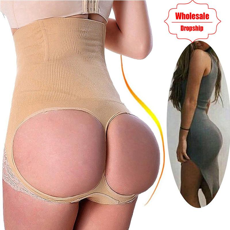 507d38621badd 2019 NINGMI Sexy Butt Lifter Control Panties Women Waist Trainer Body  Shapers Pulling Underwear Slimming Pant Hip Push Up Brief Short From Salom