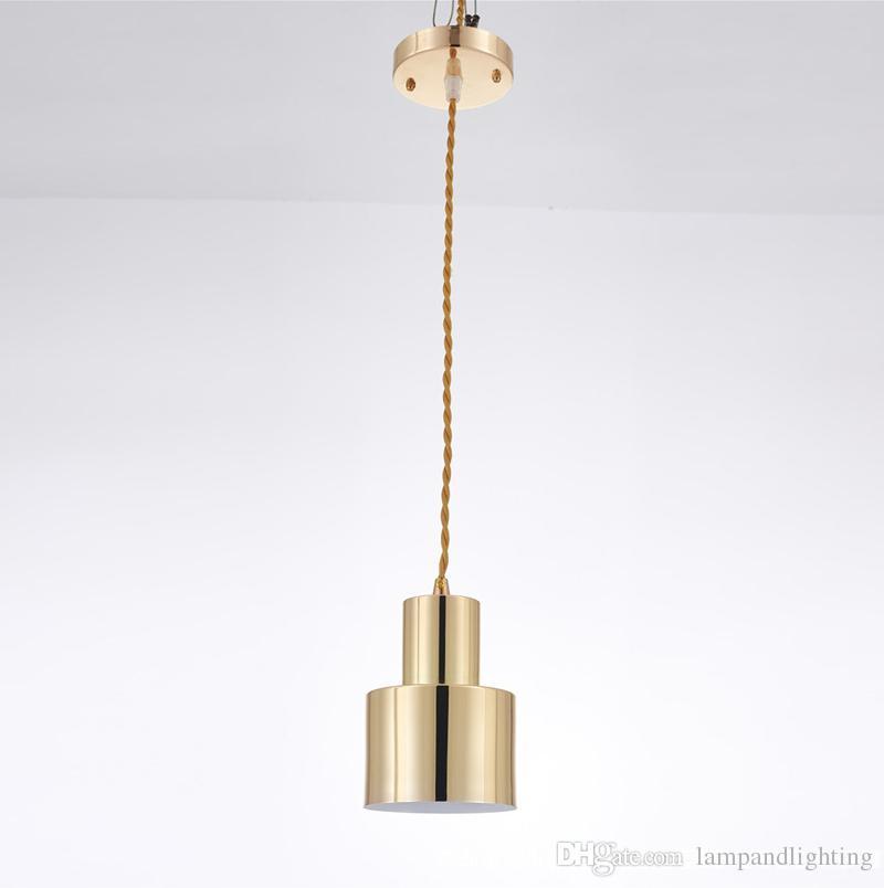 현대 미니 심플한 디자인 단일 금속 펜던트 램프 E27 LED 조명 호텔 램프 주방 조명 pendente 침실