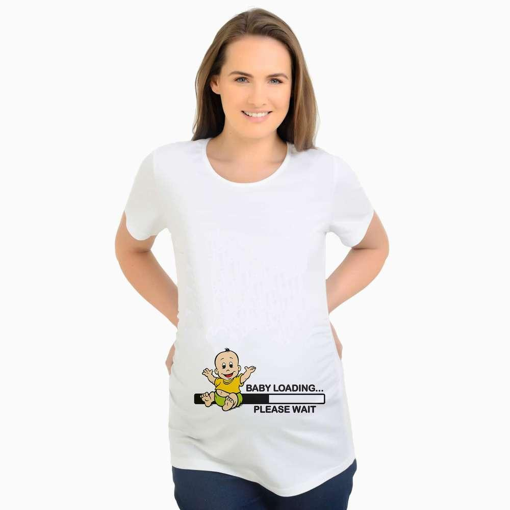 3834bea407 2019 Funny Maternity Clothes Vestidos Pregnancy T Shirts Tops Baby ...