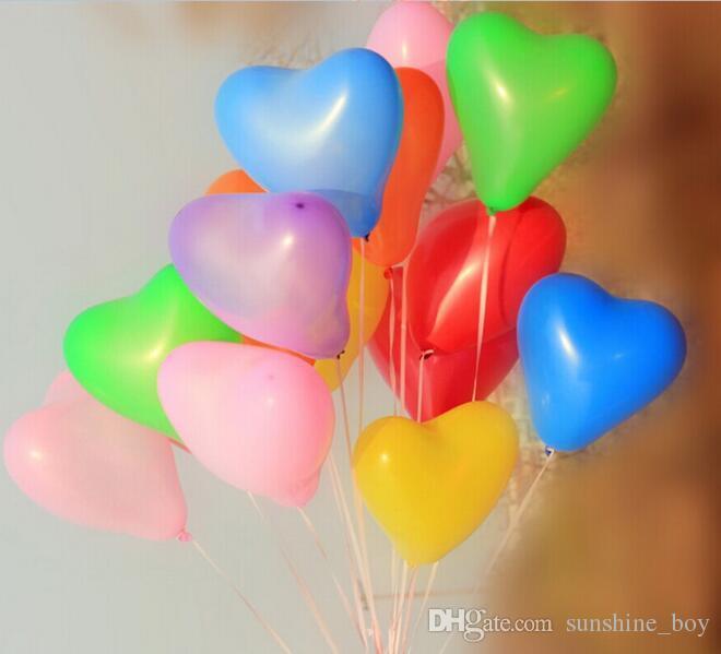 빨간 사랑 심장 라텍스 웨딩 헬륨 풍선 발렌타인 데이 생일 파티 풍선 풍선 2.2g을 로맨틱 한 12 인치