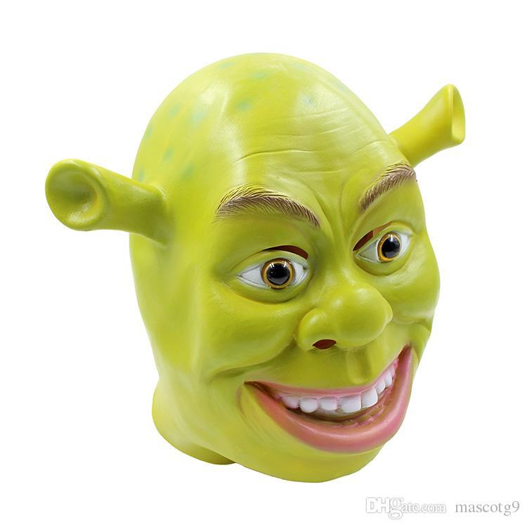 Verde Máscaras de Látex Shrek Película Cosplay Animal Adulto Máscara del Partido Realista Masquerade Prop Disfraces Fiesta de Halloween Máscara