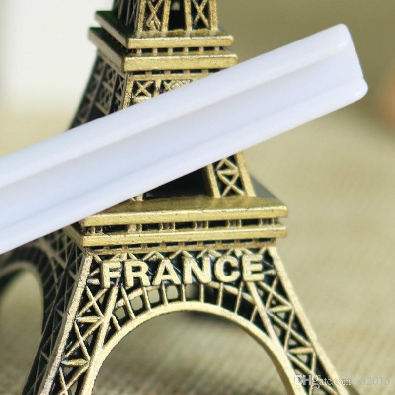 Plástico blanco profesional 5 cucharas / cucharas de Gram 5g para la comida / la leche / el detergente / medicina que mide wen5489