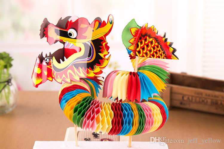 68fee1d2a Little Paper Dragon Toy Dragon And Lion Dance Handicraft Toys Temple Fair  Specialty Of China Traditional Souvenir The Christmas Toy Jim Henson Help  With ...