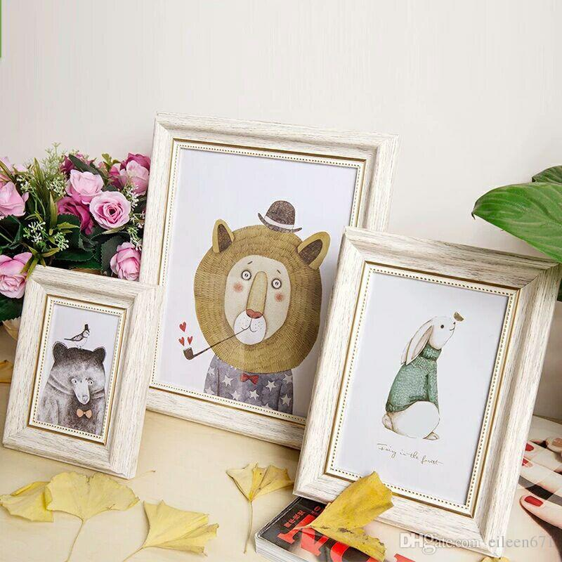 2018 New Creative Solid Wood Photo Frame Children\'S Cute Couple ...