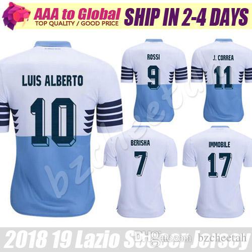 a5561640aed 2019 Lazio Soccer Jersey 2019 Lazio Home Away Blue IMMOBILE LULIC SERGEJ  BERISHA LUIS ALBERTO BASTA Jersey Football Shirts From Bzcheetah, $17.01 |  DHgate.