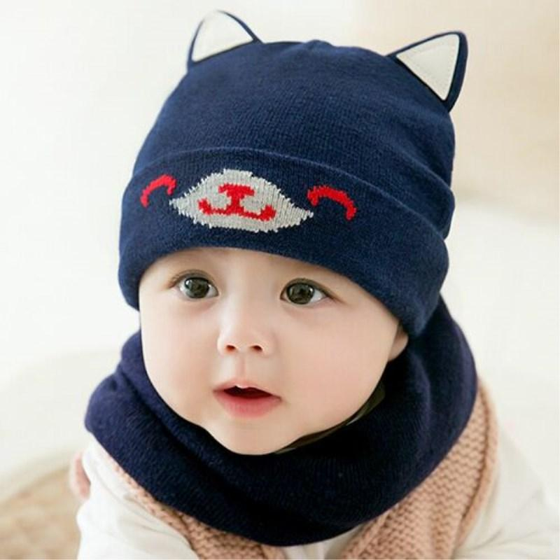 002b0f1c1b352 2019 2018 Hot Sale Baby Winter Hat   Scarf Baby Winter Cap Children Warm  Scarf For Boys Suit Beanie Hats Scarfs For Girl Boy From Fwuyun