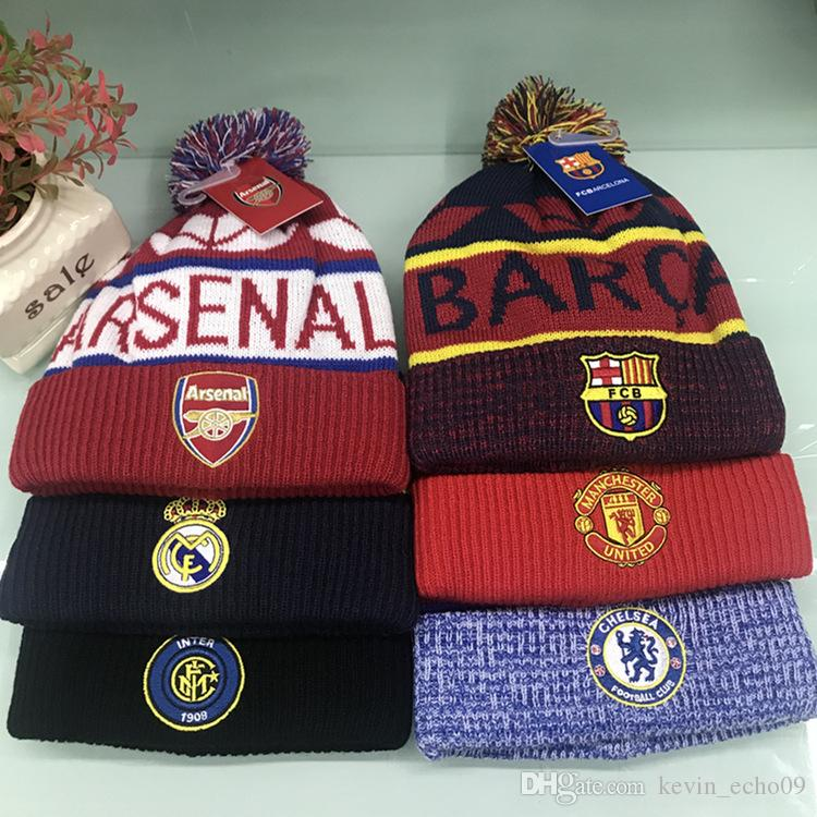 2019 ARSENAL Hight Quality Football Club Beanies Men Women Autumn ... 2cfe53a05c