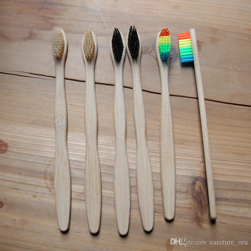 Organic Bamboo Toothbrushes Customize Business Logo Eco Friendly Bamboo  toothbrush For Sale Adult and Children Toothbrushes Dropshipping