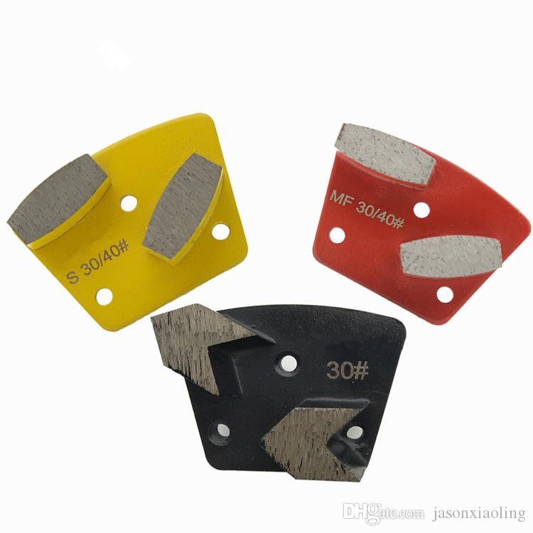 KD-A20 Diamond Grinding Shoes Diamond Grinding Disc with Two Arrow Segments for Concrete and Terrazzo Floor One Set